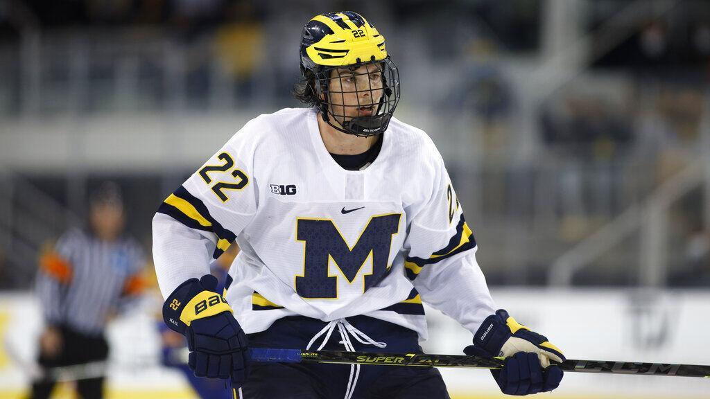 Sabres prospects Owen Power, Erik Portillo are keys as Michigan takes No. 1 in the polls