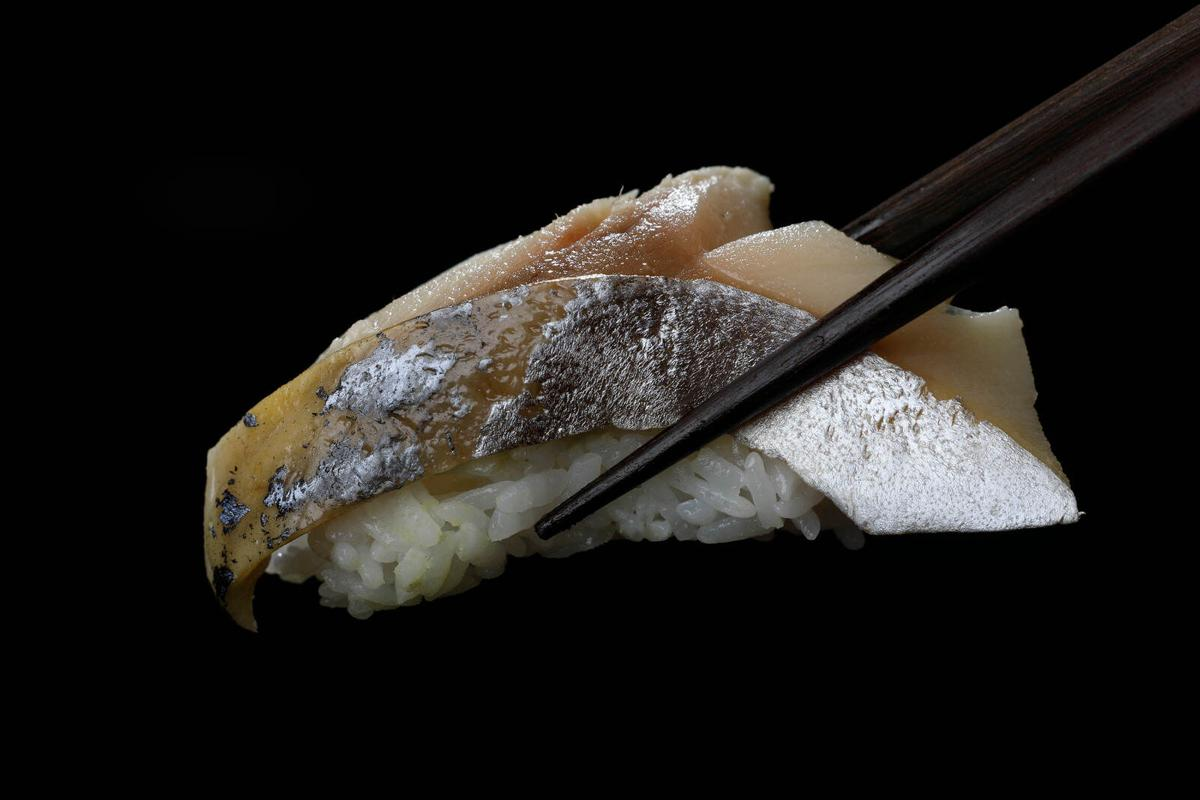 Mackerel nigiri (copy) at Kuni's