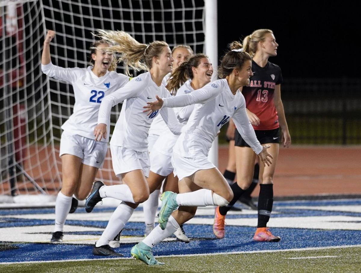 UB Women's soccer goal