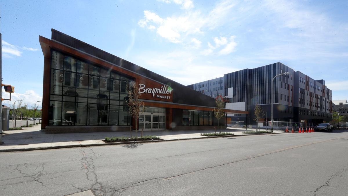 Braymiller market and Apartments at 201 Ellicott Street