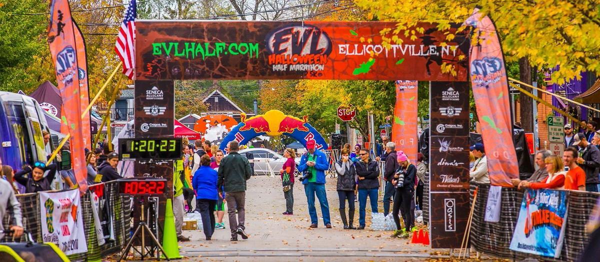 Smiles at the EVL Halloween Half Marathon and 5K
