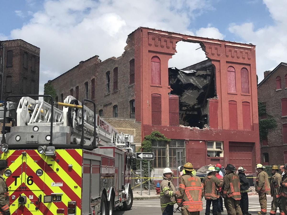 Building collapse at Genesee and Oak on July 2