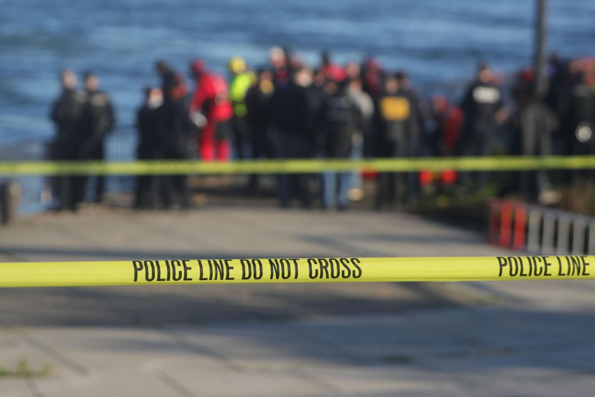 Police tape at scene as a  body is recovered from Niagara River