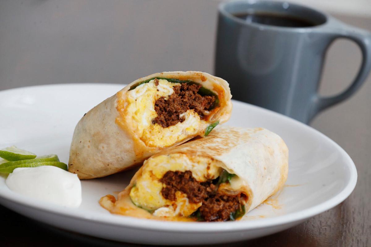Breakfast burrito at Public Espresso