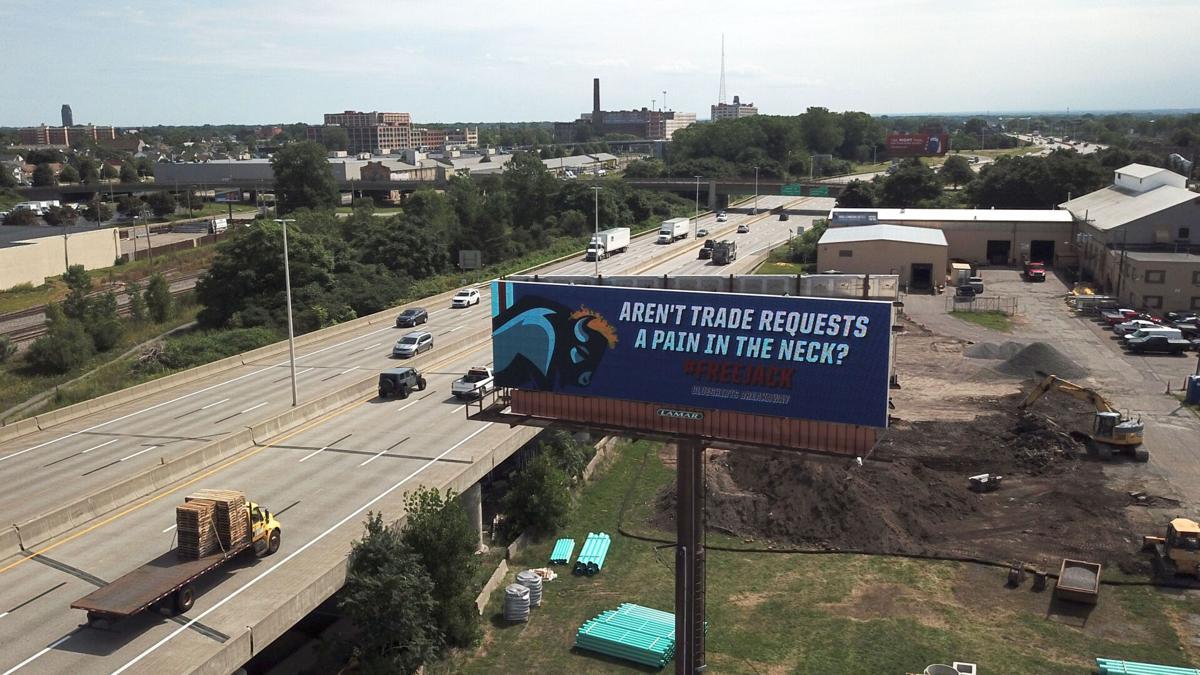 #FreeEichel billboard along the I-190