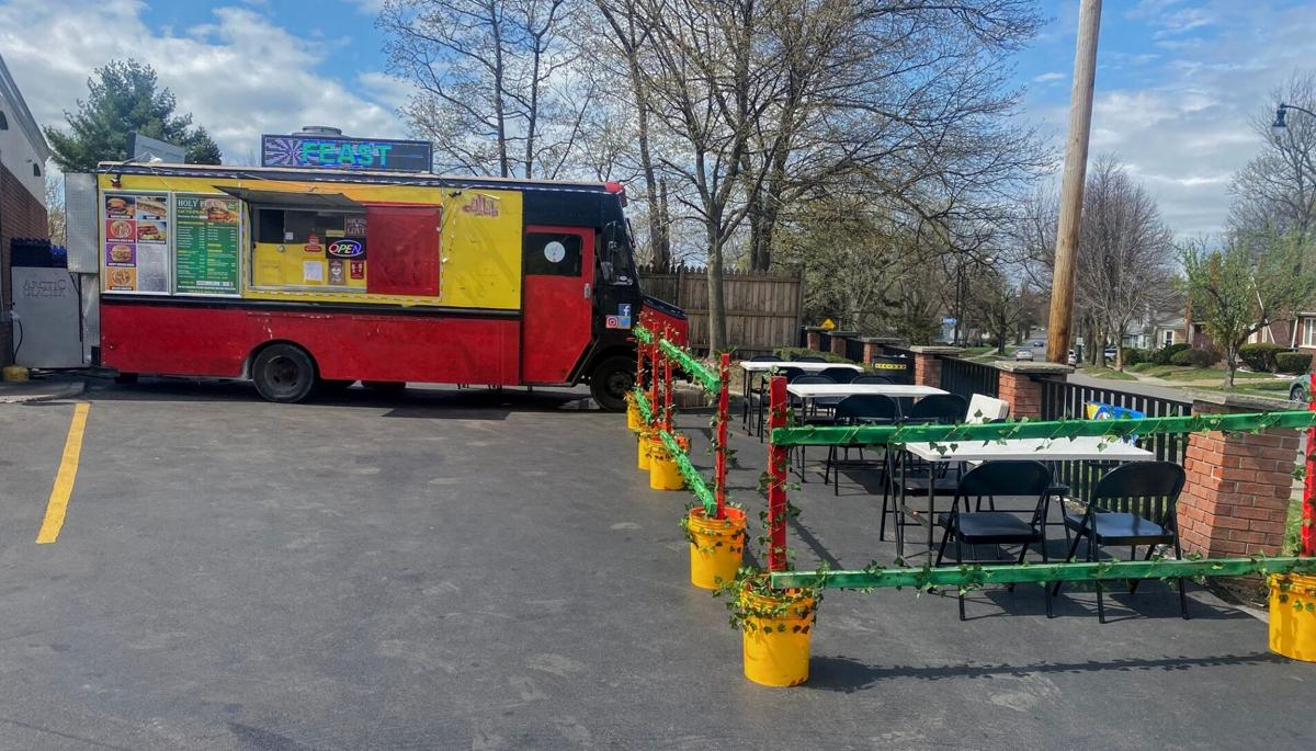 Holy Feast Food Truck seating