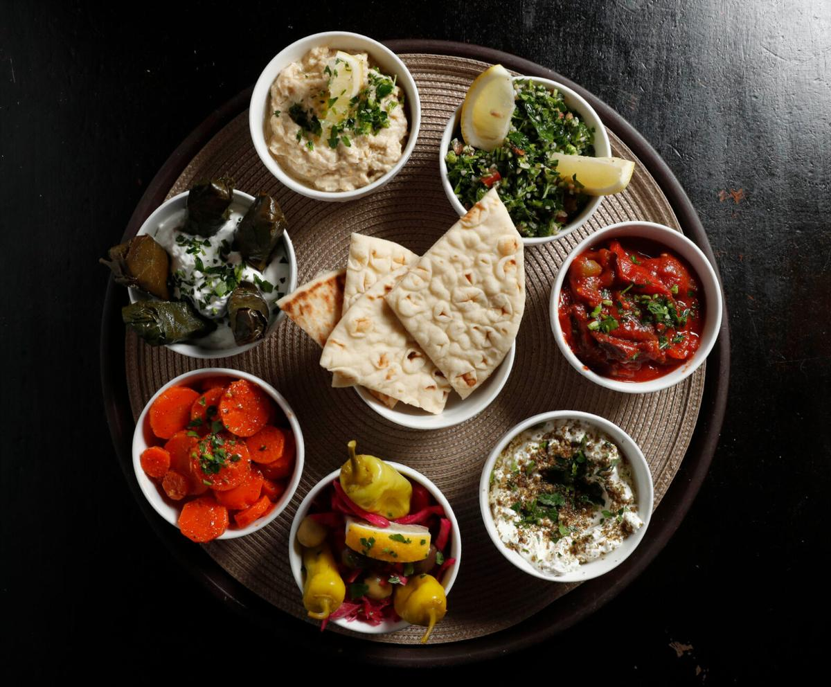 Maza at Falafel Bar are flavorful as they are colorful