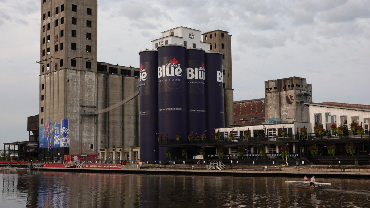 Giant Labatt Beer Cans at Silos Hickey (copy)