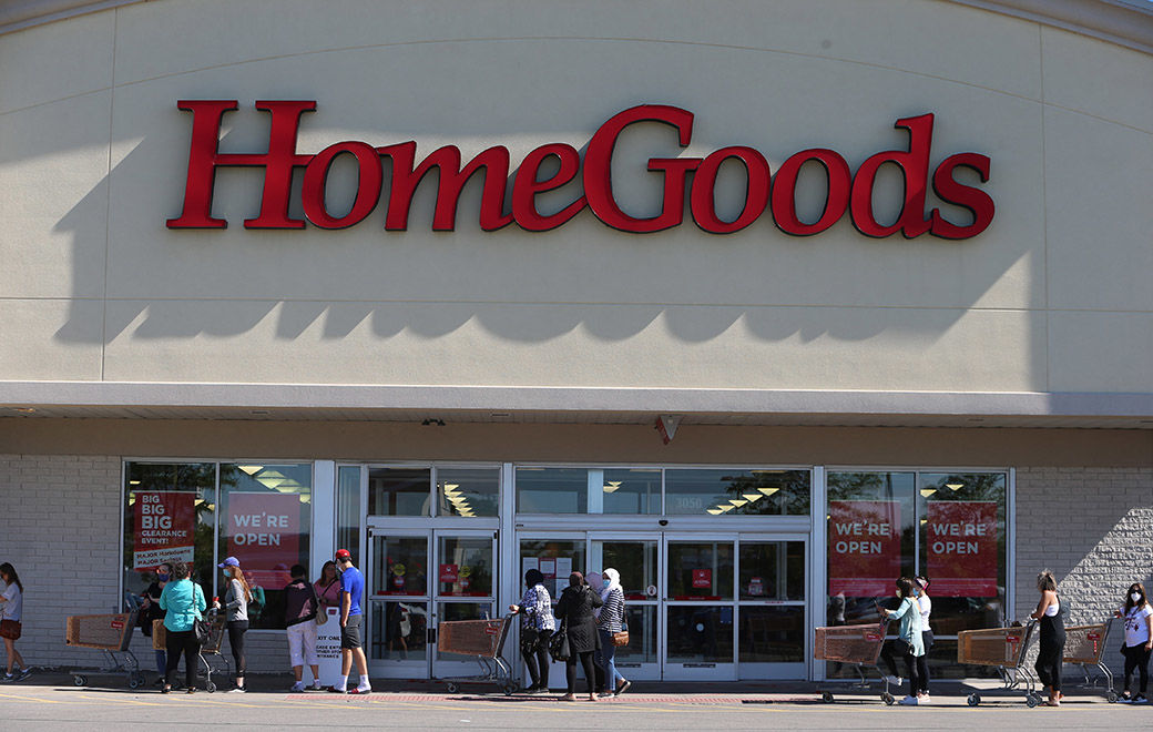 TJ Maxx/HomeGoods reopening  Amherst 2020 HICKEY