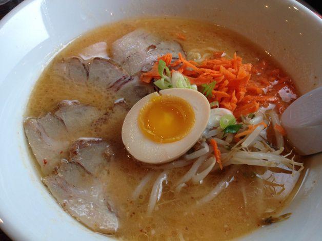 Spicy miso ramen at Sato