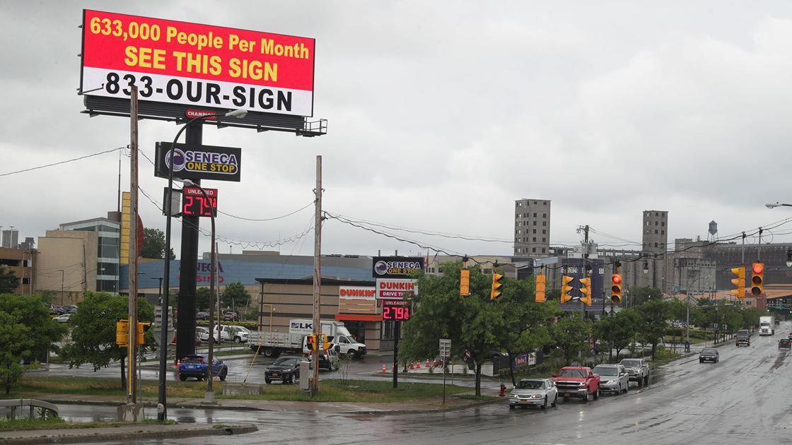 Billboard near Buffalo casino is a sign of times for Seneca Nation