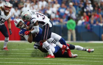 1013865857 McCoy Sports Bills New England-Buffalo Bills quarterback Josh Allen (17)