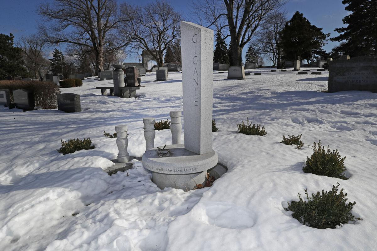 Gigante grave site Forest Lawn arrest