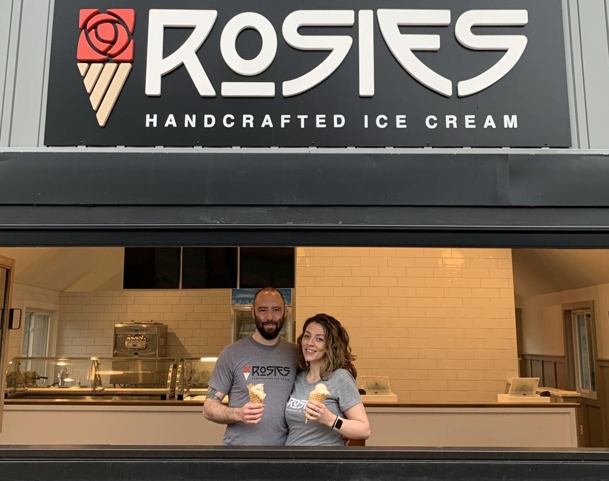 Deacon and Cassie Tasker Rosie's ice cream