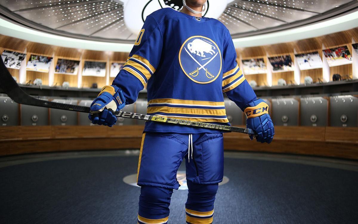 Sabres unveil royal blue and gold uniform