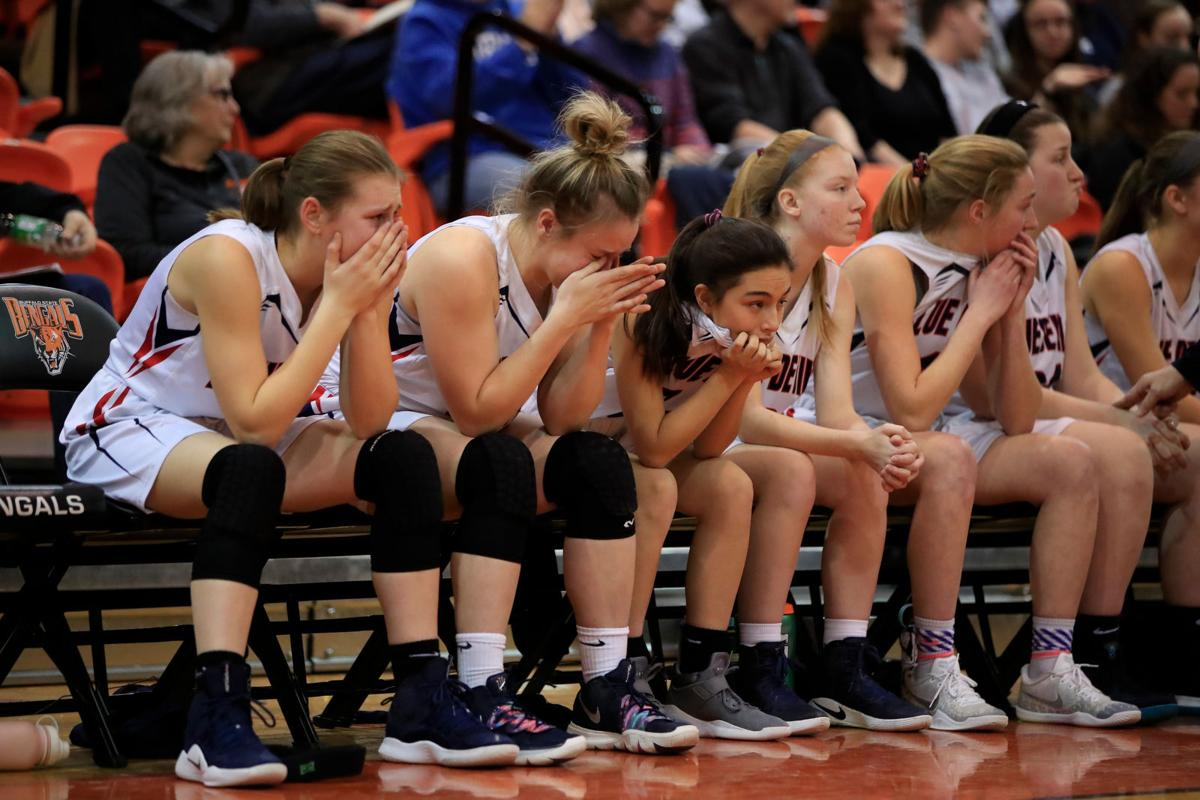 Dejection-Loss-East Aurora-Midlakes-Far West Rigional-Class B-Championship-Buffalo State-Scull-Girls Basketball