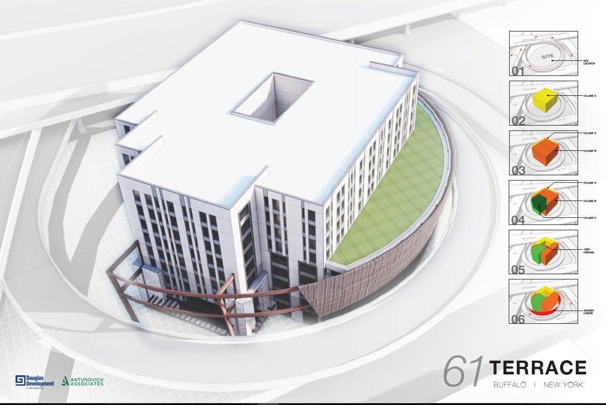 61 Terrace aerial rendering