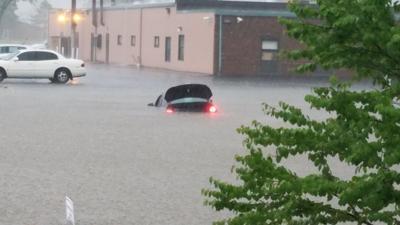 Flash flooding in Lockport