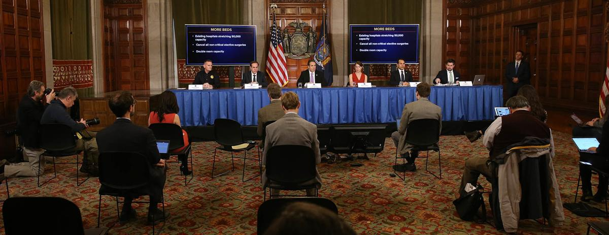 New York State Governor Andrew Cuomo Holds Daily News Conference Amid Coronavirus Outbreak