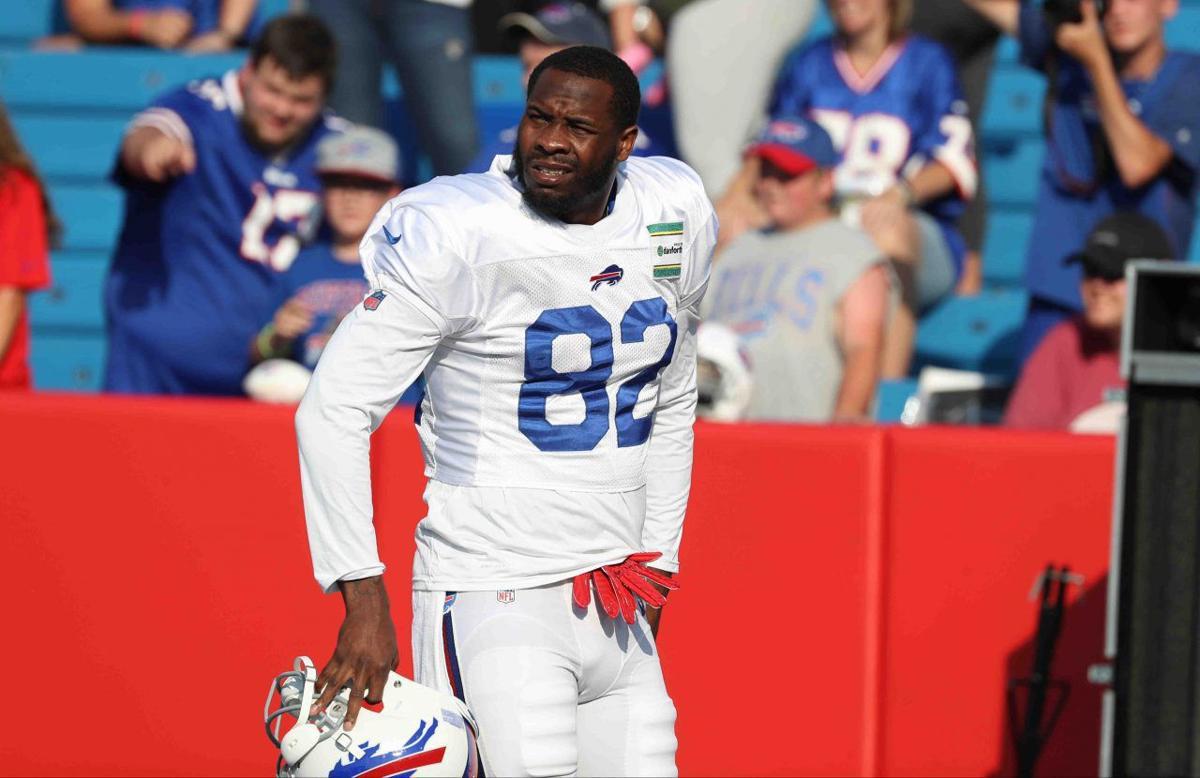1013356961 McCoy Sports Bills Buffalo Bills wide receiver Duke Williams (82)