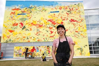 Cecily Brown creates mural with local artists, Performing Arts students