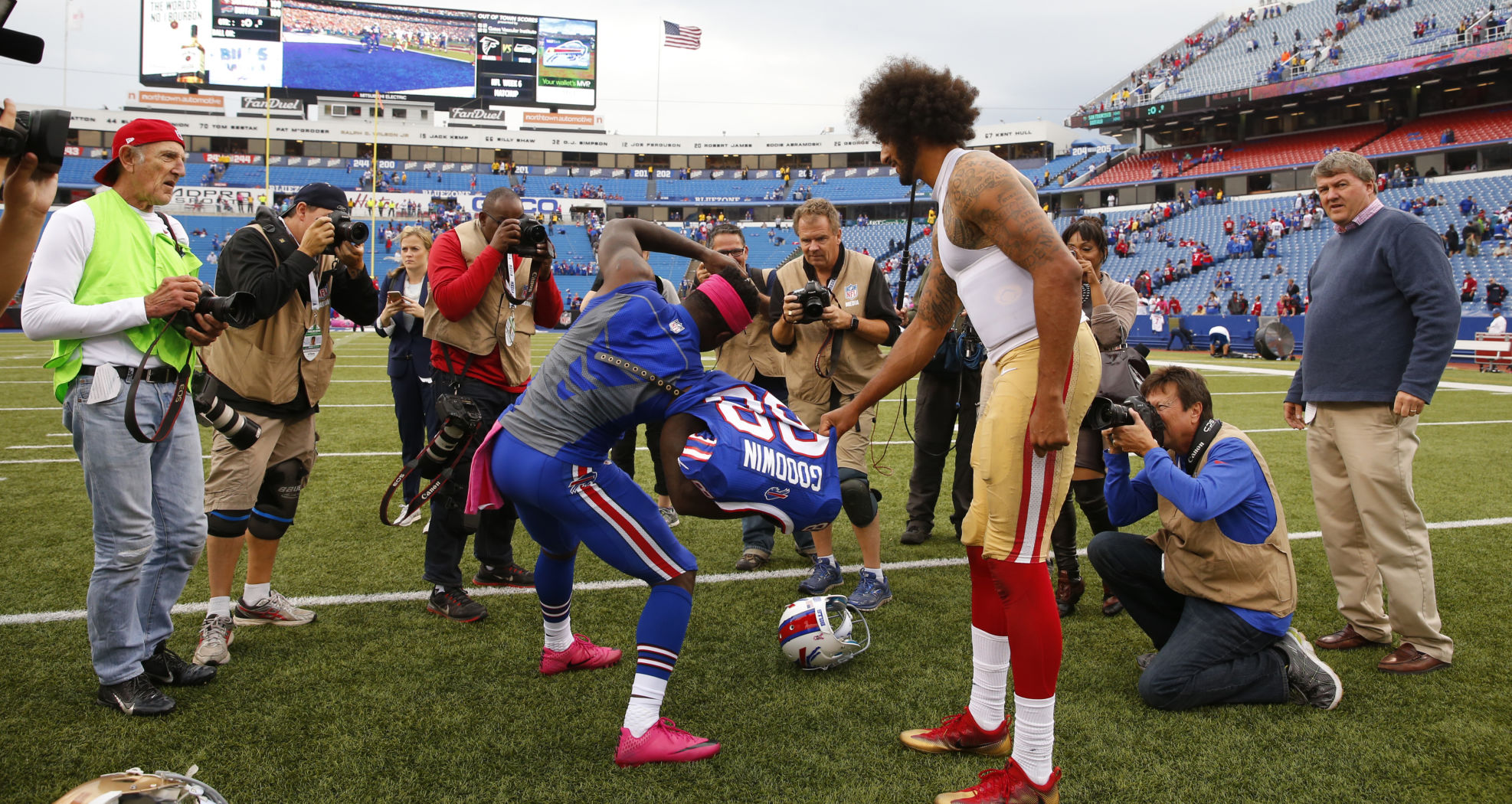 Bills receiver, U.S. Olympian Marquise Goodwin snags Colin ...