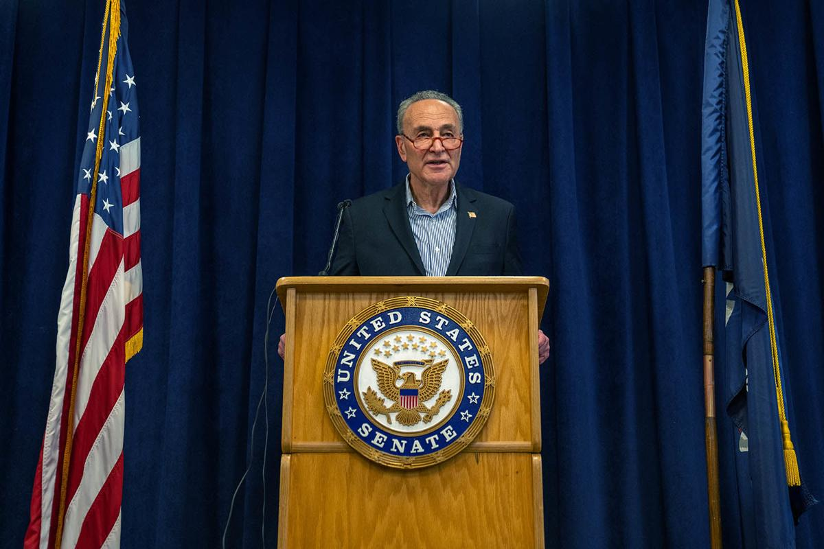 Chuck Schumer Calls On Senate To Pass Coronavirus Legislation