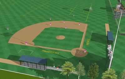Medaille Sports Complex baseball field rendering 1119