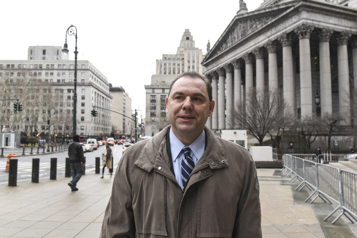 Joseph Percoco, a former top aide to Gov. Andrew Cuomo who is being represented by a top-shelf legal team at his federal corruption trial, outside court in New York.