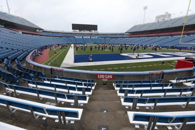 Buffalo Bills practice at Bills Stadium