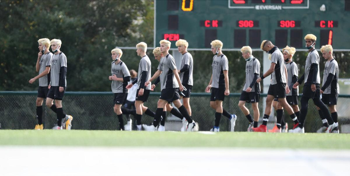 The Williamsville North players have all died their hair blond and are referring to the team as the blondes.