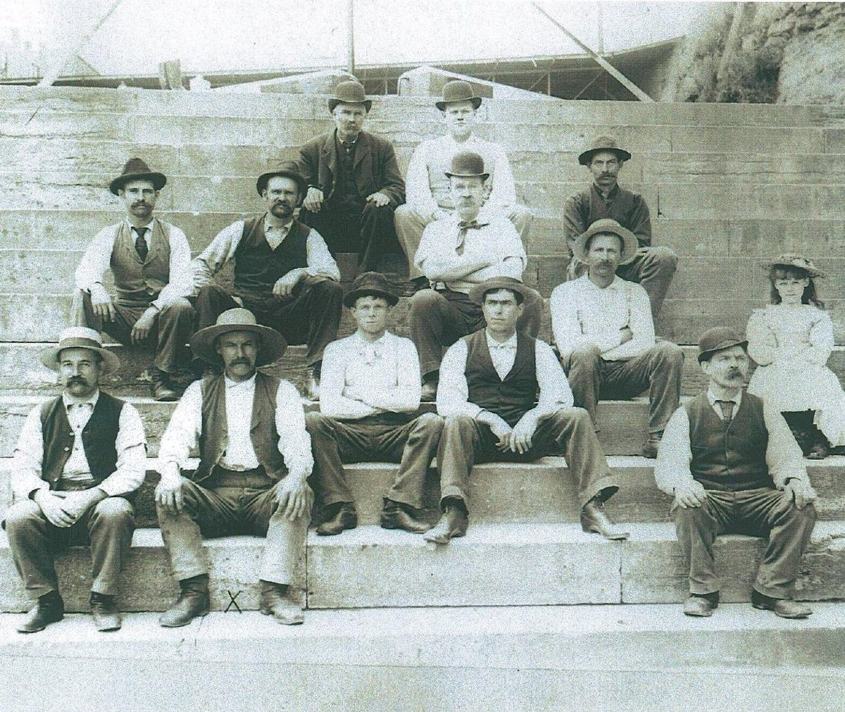 Lockport lock canal workers 1897