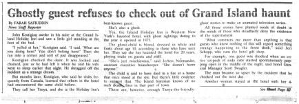 Oct. 30, 1994: Ghostly child spooks guests at Grand Island hotel