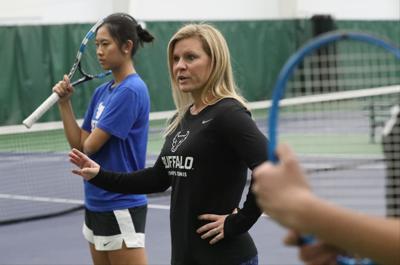 1012409228 McCoy Sports UB tennis Kristen Ortman