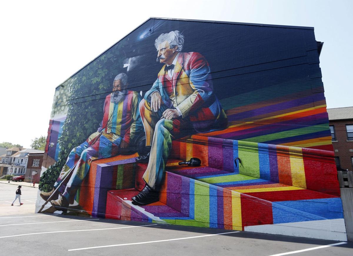 Brazilian Artsit Eduardo Kobra Mark Twain John Lewis Mural
