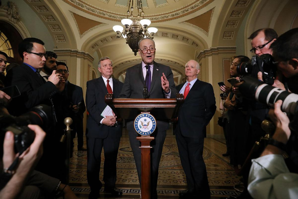 Senate Leaders Speak To Press After Party Policy Luncheons