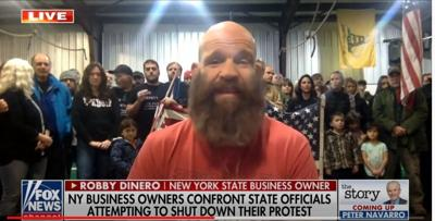 Robby Dinero Fox News Protest