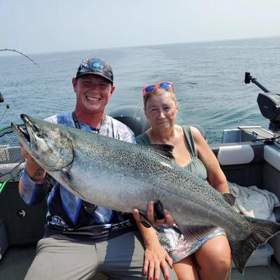 King salmon out of Olcott