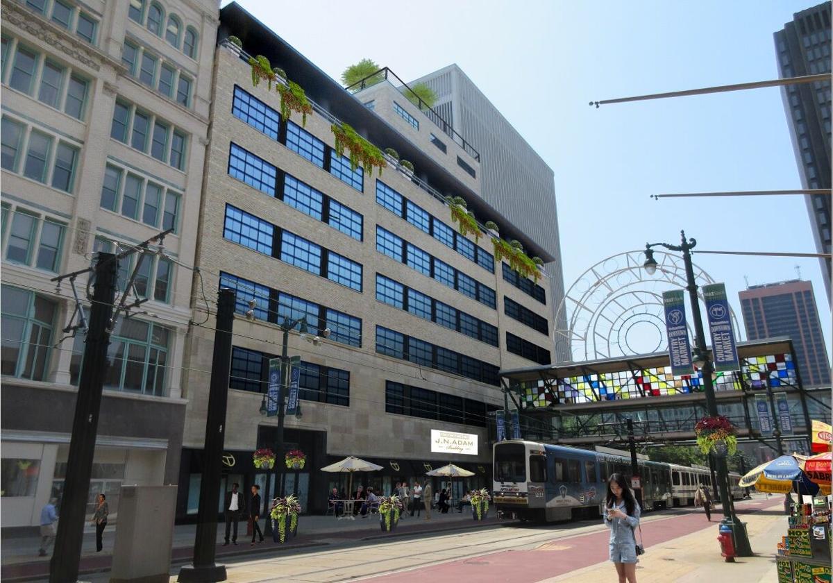 J.N. Adam Building-former AM&A's rendering