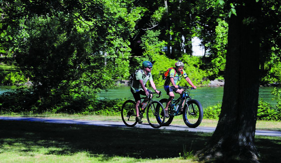Erie Canalway trails cyclists