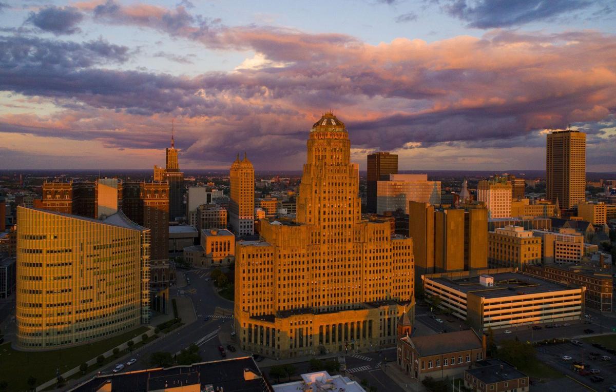 Derek Gee Buffalo skyline city hall