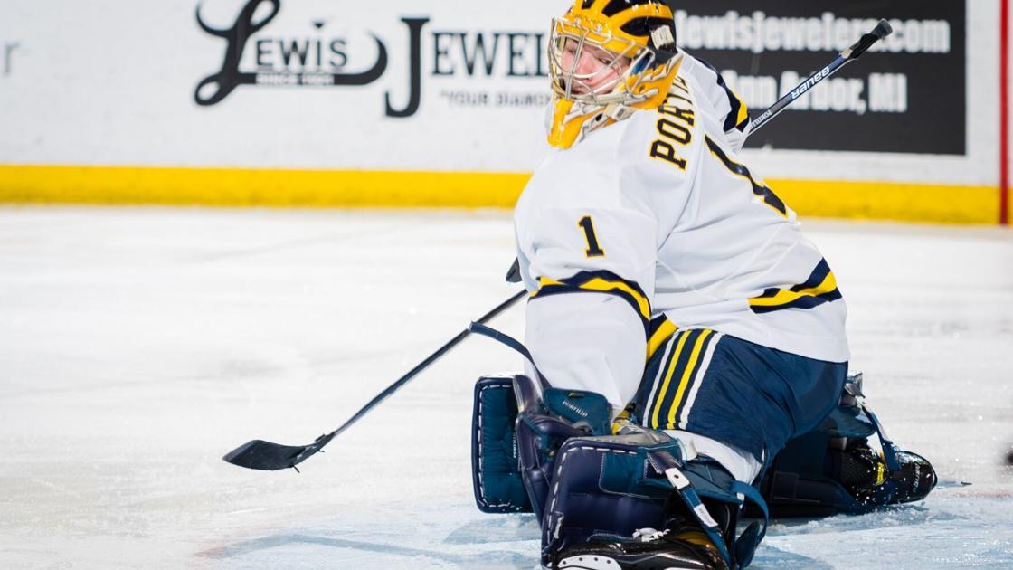 Sabres goalie prospect Erik Portillo preparing to take over starting job at Michigan