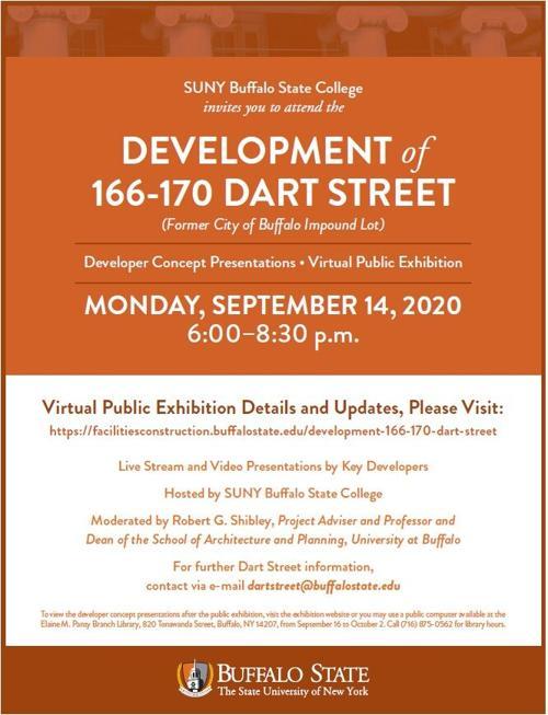 Information flyer about Dart Street virtual forum