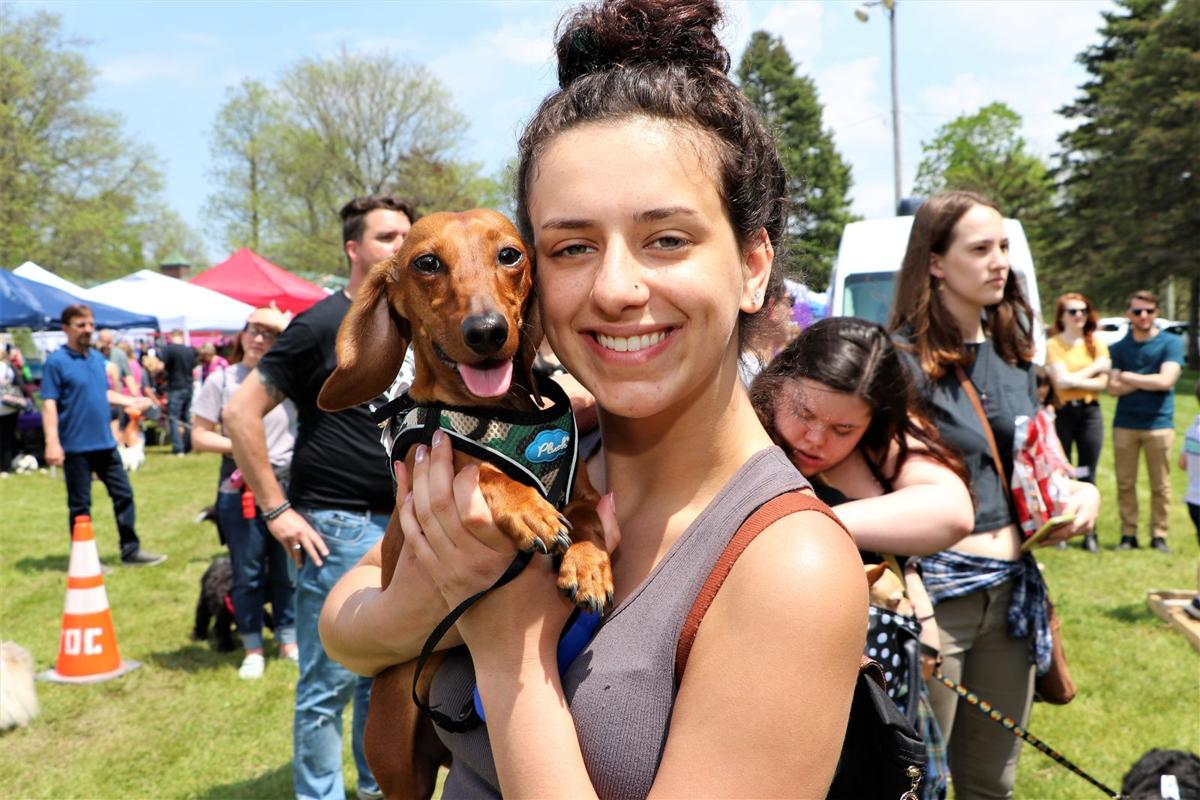 Smiles at Bark in the Park in Clarence Town Park