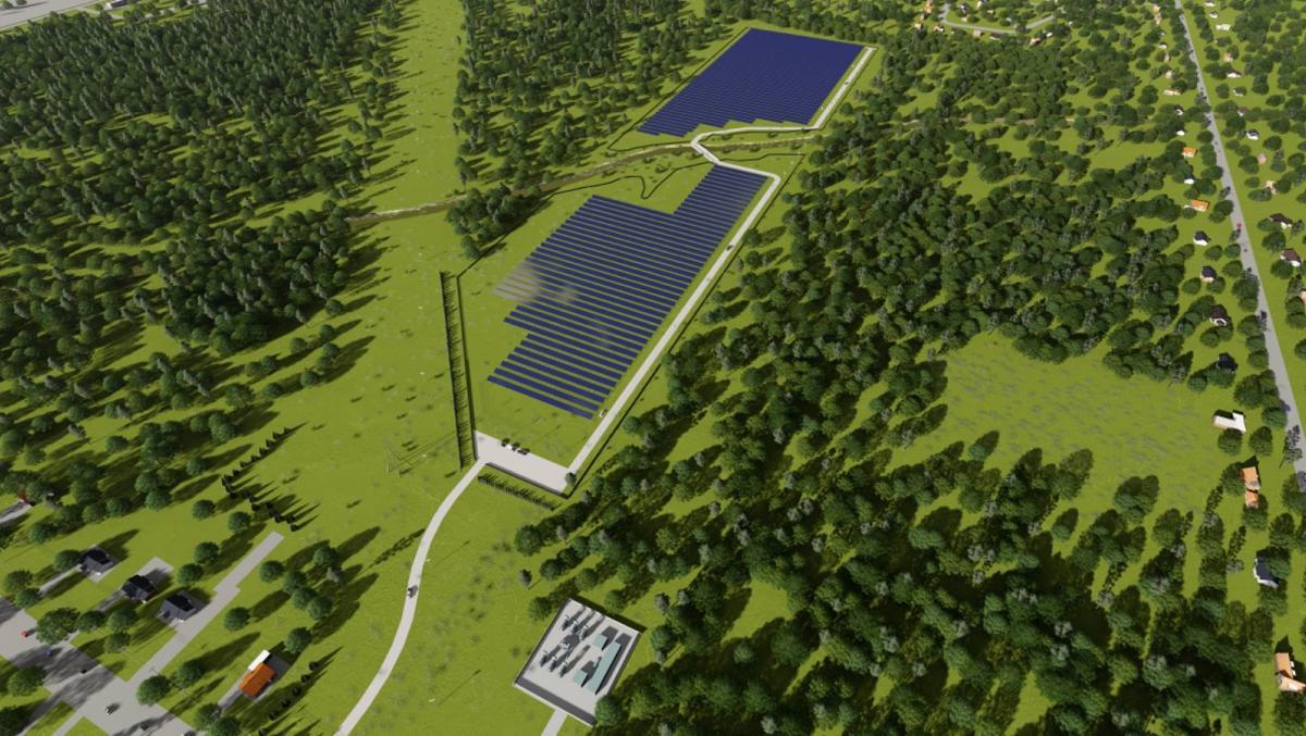 SolarPark-Array-Rendering