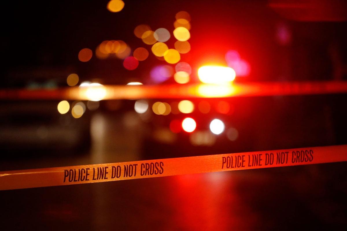 Generic crime scene police tape lights