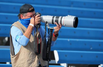 James P. McCoy photographing the Bills Jets from the Stands