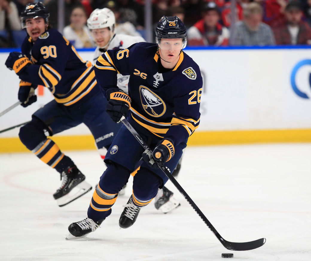 Rasmus-Dahlin-Sabres-Capitals-NHL-KeyBank Center-Scull
