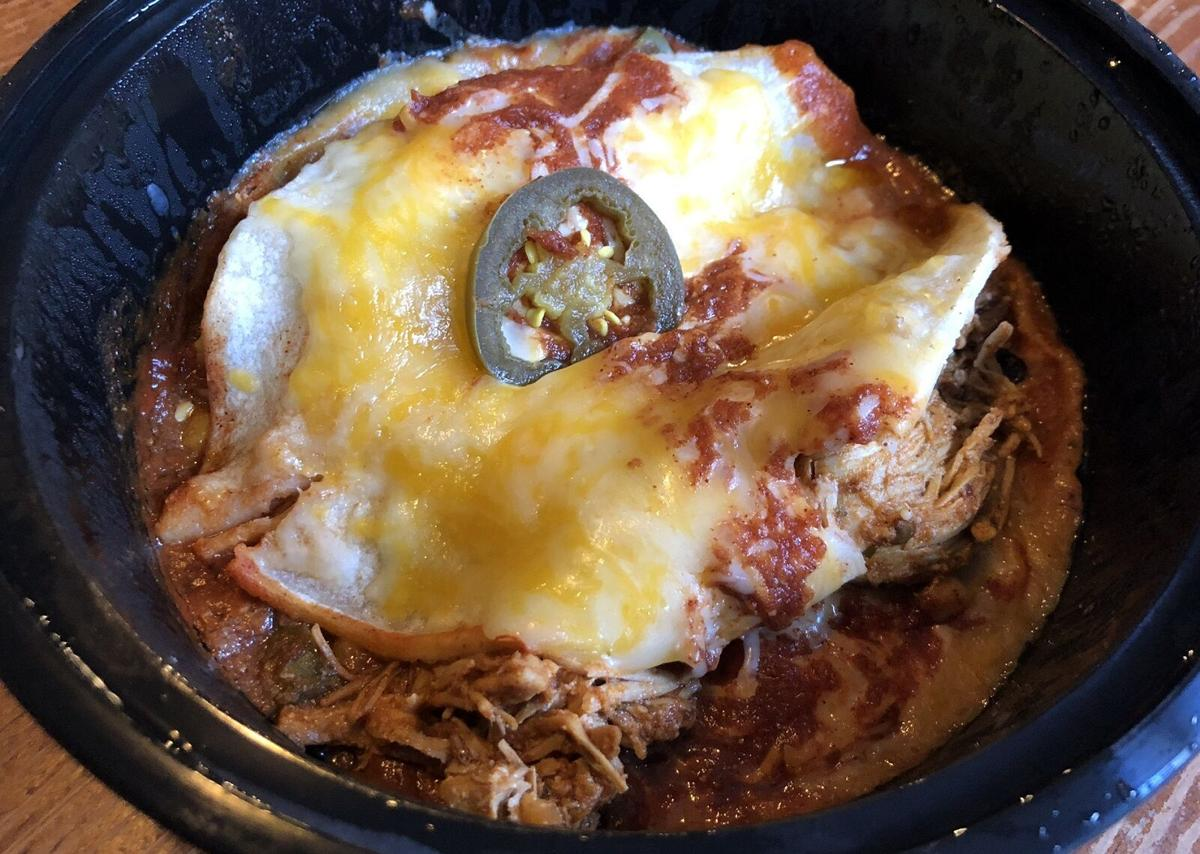 Chicken enchilada combo Kiosko Latino