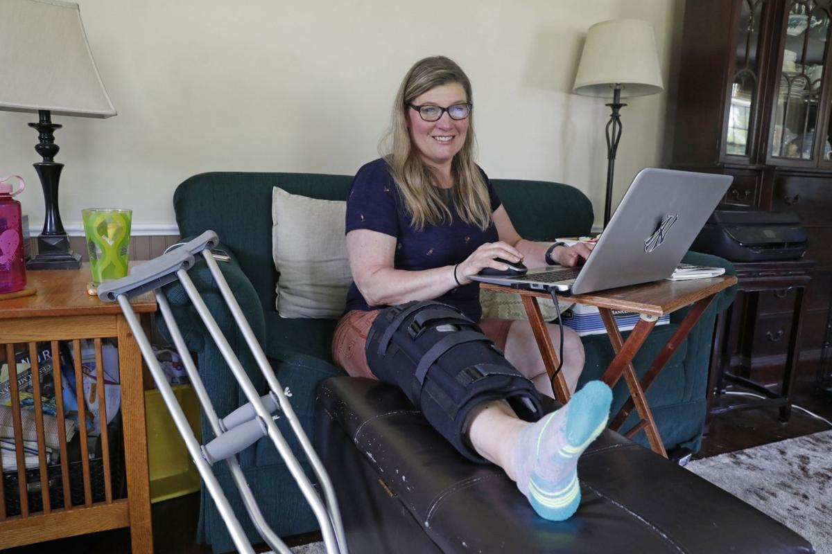 Covid-19 delayed her surgery - and further damaged her knee